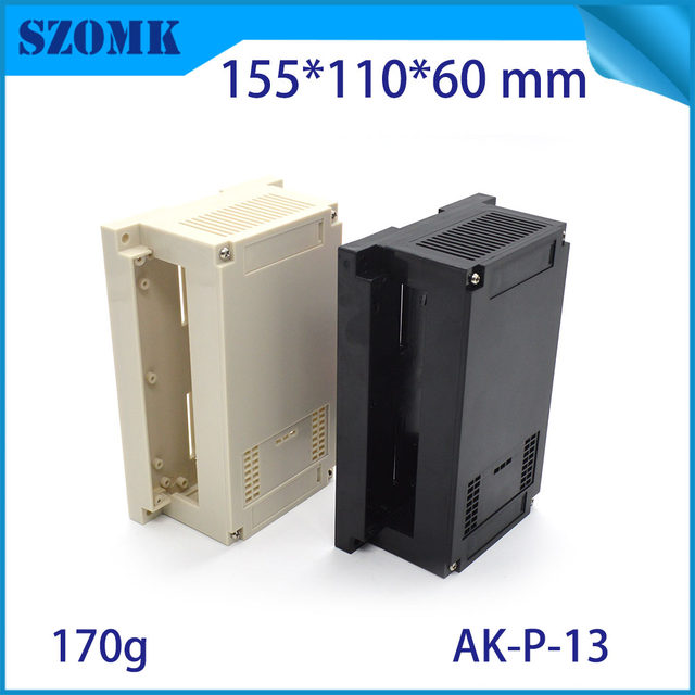 online shop plc plastic enclosure din rail pcb junction box abs din rh m aliexpress com
