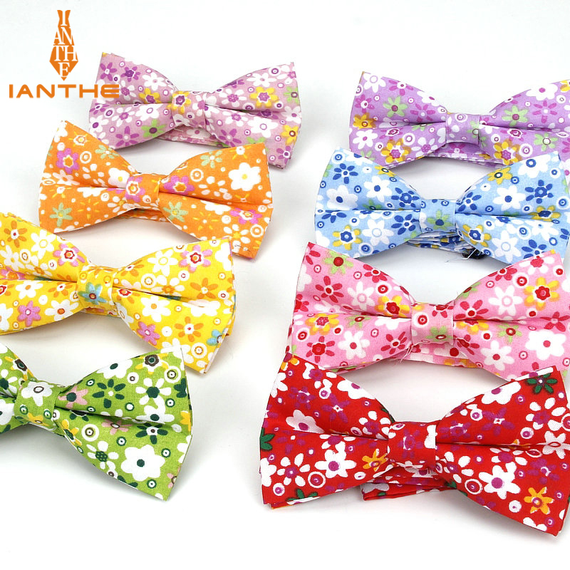 Brand New Men Vintage Flower Print Polyester Bow Tie Wedding Suit Bowtie For Man Male Neckwear Fashion Butterfly Gravata Necktie