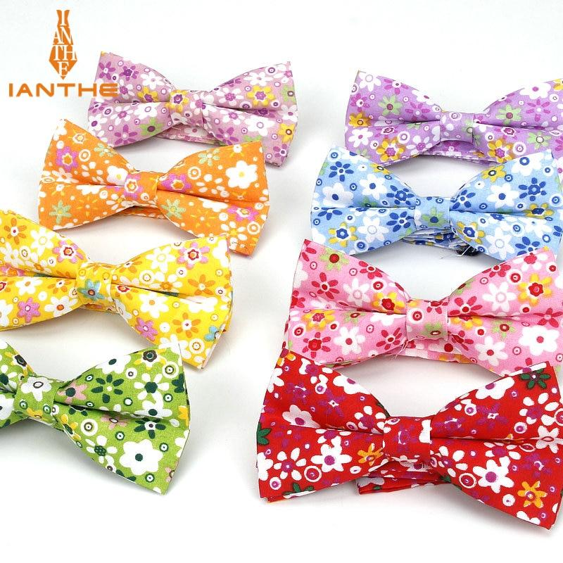 Brand New Men Vintage Flower Print Polyester Bow Tie Wedding Suit Bowtie For Man Male Neckwear Fashion Butterfly Gravata Necktie