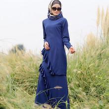 S-5XL plus size muslim adult female prayer ruffer stitching abaya turchi turkish hijab abaya islamic dress wj78 custom made