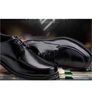 Image 2 - REETENE Oxford chaussures pour hommes chaussures habillées bout rond affaires mariage hommes chaussures formelles résistant chaussures rétro hommes