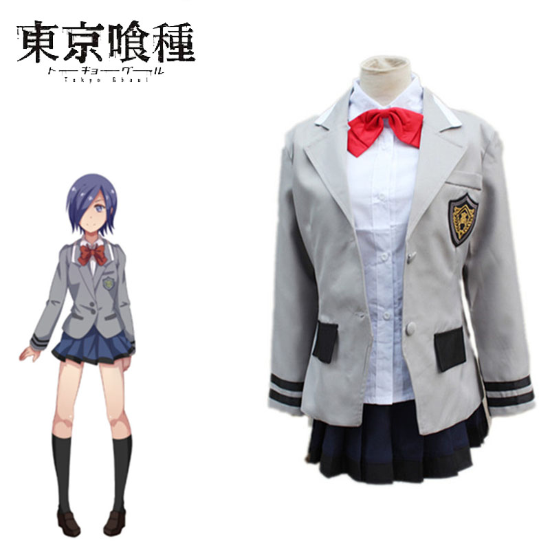 все цены на Touka Kirishima Cosplay Tokyo Ghoul Cosplay Janpanese Anime Costumes For School Uniforms Costumes