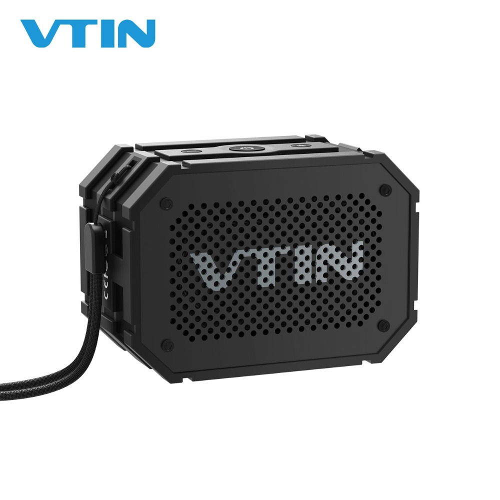 Bluetooth Speaker Tourism Beach VTIN Portable Music Box Waterproof IPX5 Mini Bath Speaker with Suction Cup and TF Card Suitable for Hiking Swimming Pool etc