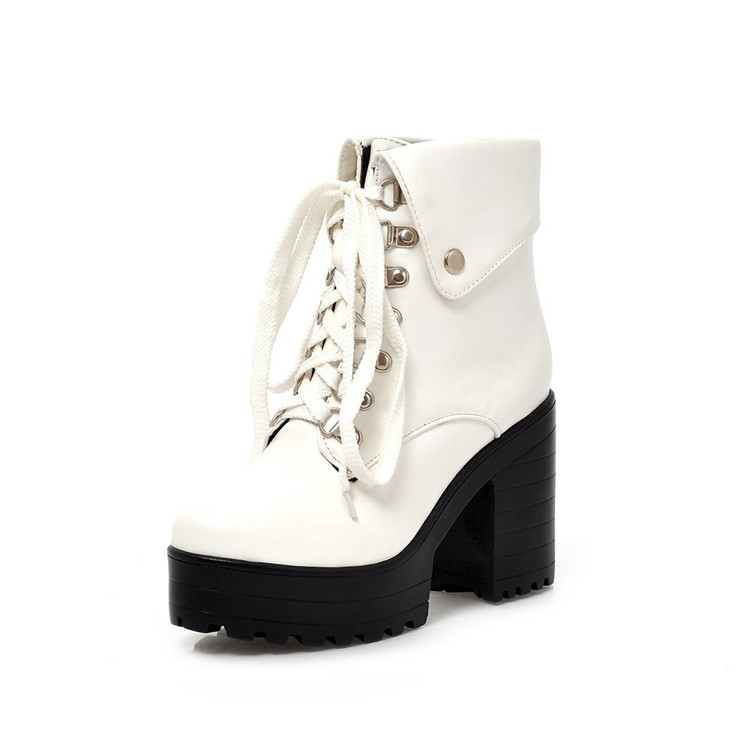 69d56f8e8e8 Block Heel Punk Goth Boots. Heel Height  3.9 inches ( 10.0 cm). Platform   1.6 inches ( 4.0 cm). Material   Synthetic. DSC 0125 ...