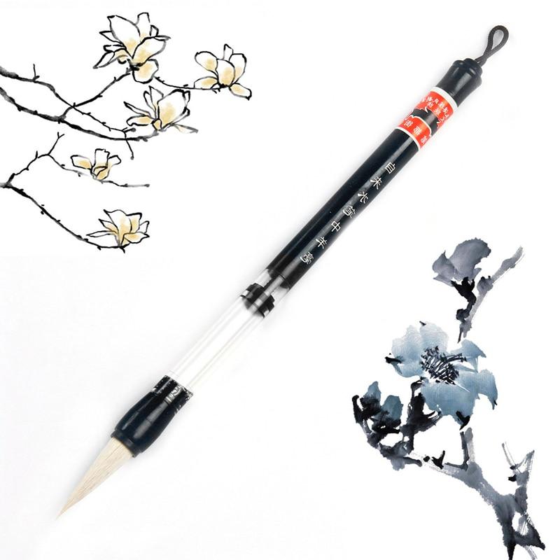 Adjustable Piston Water Writing Brush Pen Chinese Calligraphy Beginner Woolen And Wool Hair Pen-F1FB