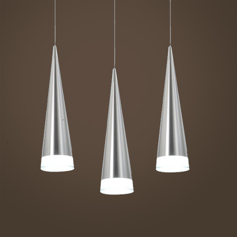 modern aluminum pendant lamp restaurant dining room