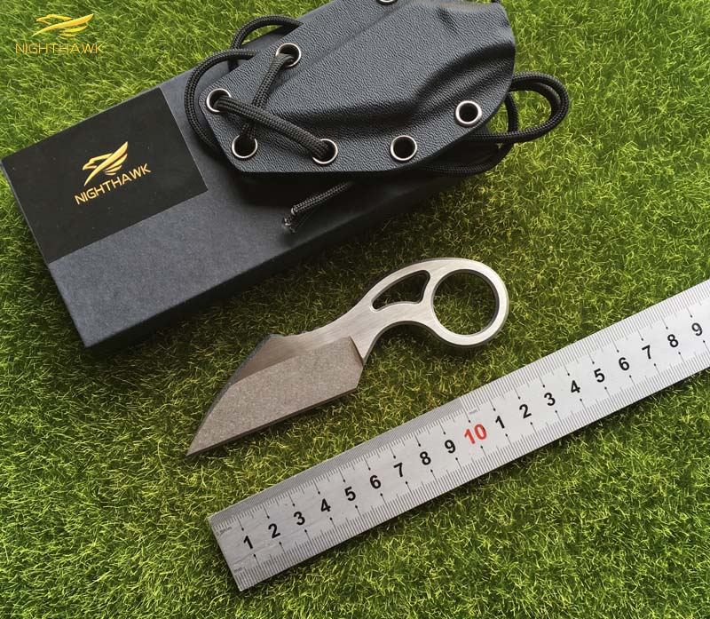 NIGHTHAWK Fixed Blade Knife, 440c Steel , The overall steel Handle Outdoor Hunting Camping Training Survival Knives EDC tool pegasi buck 009 fixed blade knife 440c stainless steel outdoor hunting knife survival knives edc tool