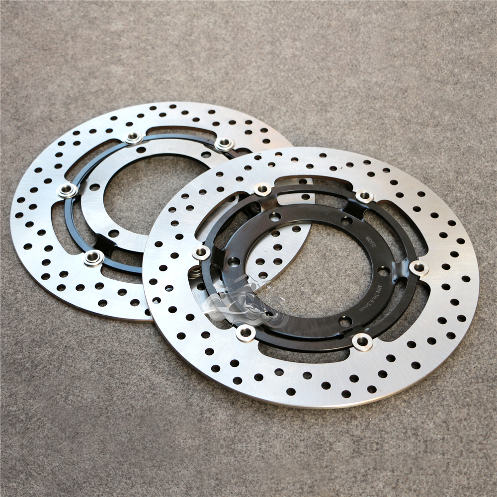 Floating Front Brake Disc Rotor For Motorcycle TRIUMPH Daytona 750/900/1000/1200 Sprint 900 Speed Triple 900 Trophy 900/1200 keoghs real adelin 260mm floating brake disc high quality for yamaha scooter cygnus modify