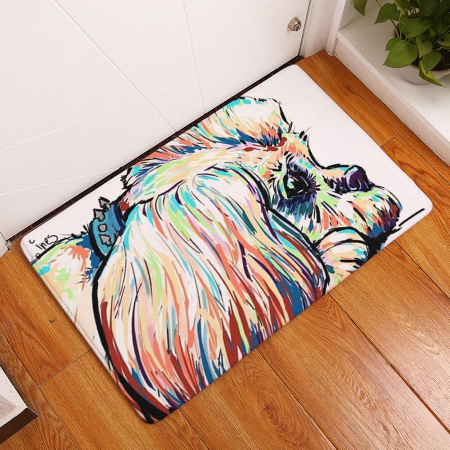 Animal Home Puerta Antideslizante Tapetes Sala Alfombras De Ba O  -> Tapete De Sala Drops