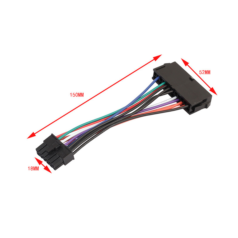 15cm ATX <font><b>24</b></font> <font><b>Pin</b></font> to 12 <font><b>Pin</b></font> Power Supply <font><b>Cable</b></font> 24p to 12p Cord For Acer Q87H3-AM image