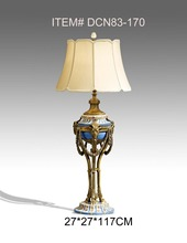 European Style Porcelain and Brass Decorative Antique Floor Lamp Luxury Decoration