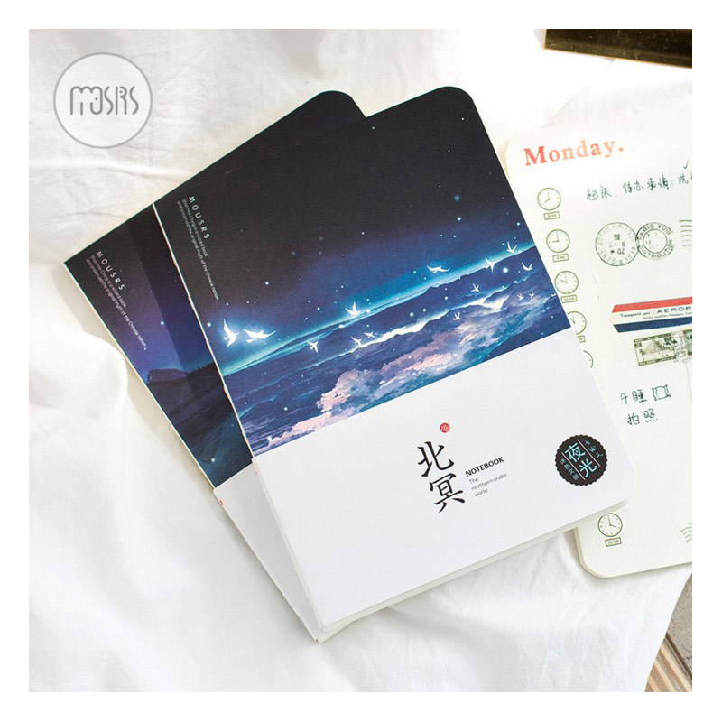 New Sketchbook Drawing Graffiti Diary School Notebook Paper 80 Sheets Sketch Book Luminous Office School Supplies Gift