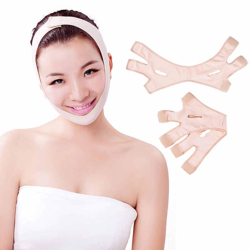 Fashion Wrinkle V Gezicht Chin Cheek Lift Up Afslanken Slim Masker Ultra-Dunne Riem Band JS88