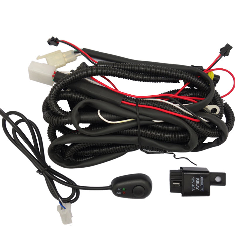 eeMrke Universal Switch and Wire Kits for Buying Angel Eye Fog Lights Lamp 660v ui 10a ith 8 terminals rotary cam universal changeover combination switch