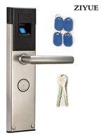 Бесплатная Доставка Электронный Дверной Замок Smart Отпечатков пальцев + карта + механический Ключ 3 Способа Замок Без Ключа Свободный Стиль Р