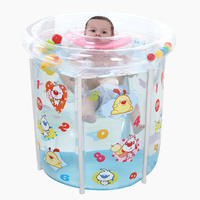 Summer Hot Eco friendly PVC Transparent Inflatable Baby Infant Swimming Pool Folding Child Toddler Water Playing Game Pool