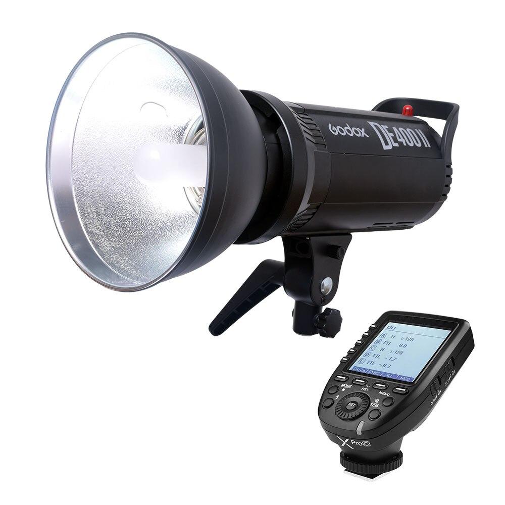Godox DE400II 400 Вт 400Ws студия вспышки света GN65 Compact Strobe лампы переднего освещения фотографии с Xpro C/ n/S/F/O триггер