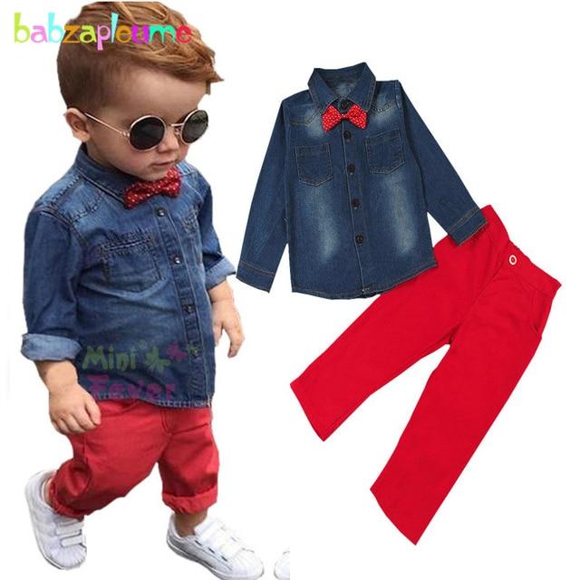ec7cee1e4 2PCS 3 8Years Spring Autumn Baby Boy Boutique Kids Clothing Set ...
