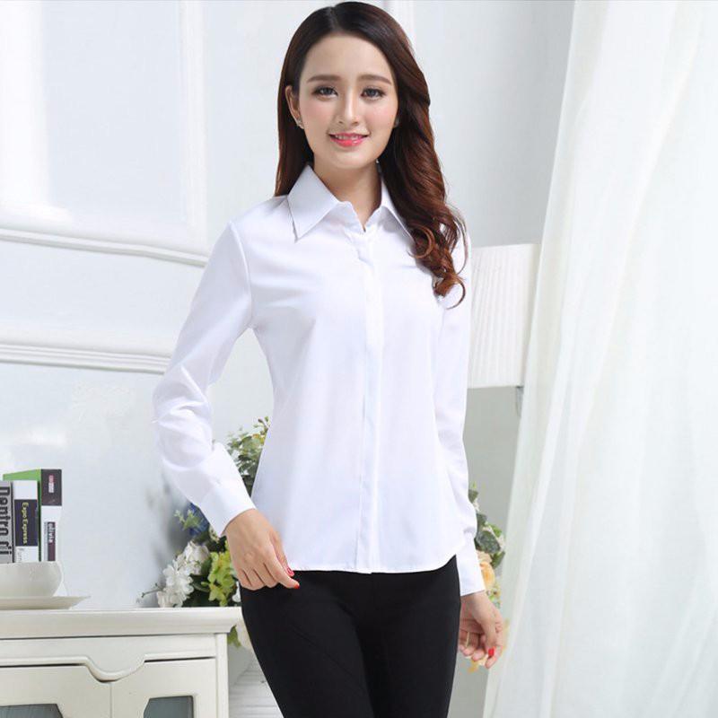 HTB1DP3oNpXXXXXjXXXXq6xXFXXXj - FREE SHIPPING White Blouse Shirt Women Work Wear Long Sleeve JKP092