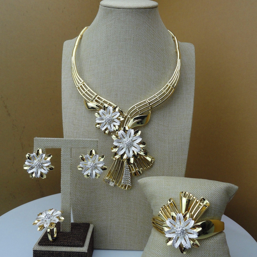 2019 Yuminglai Dubai Costume Jewelry Flower Deisgn Fashion Jewelry Sets FHK6618