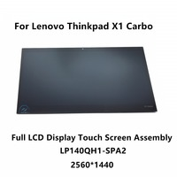 LCD Display Touch Screen Digitizer Assembly LP140QH1 SPA2 For Lenovo Thinkpad X1 Carbon 2nd Gen 20A7 20A8 20A8005KAU 2560X1440