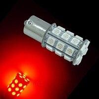 PA LED 2pcs x Super Bright 1156 BA15S Color RED 14V Motorcycle Turn Signal Light 30SMD 5050 LED