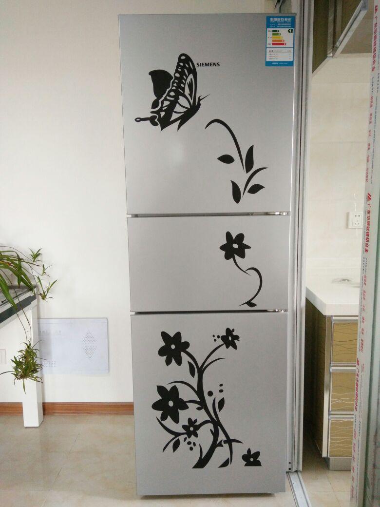 Korkealaatuinen luova jääkaappi musta tarra perhonen kuvio seinä - Kodin sisustus - Valokuva 2