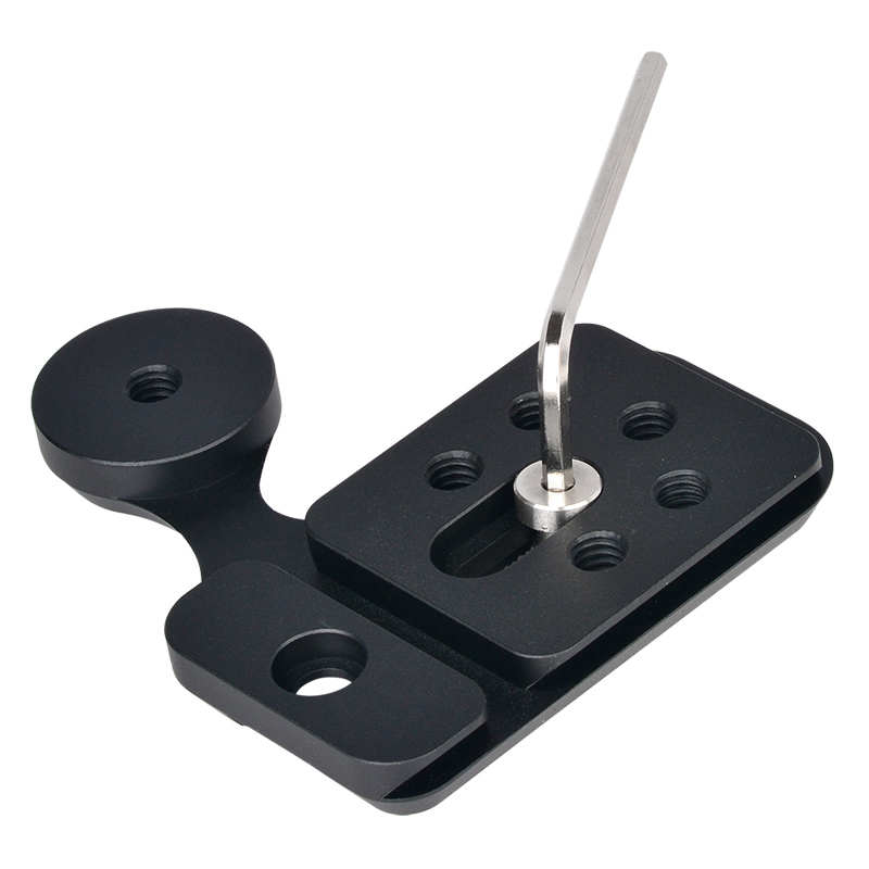 Universal M-PRO Quick Release Plate Clamp Adapter with 1/4 Mount Screw for Arca-Swiss Tripod Monopods