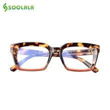 SOOLALA Anti Blue Light Filter Blocking Glasses Women Men Square Eyeglass Frame Ray Gaming Computer Proteccion