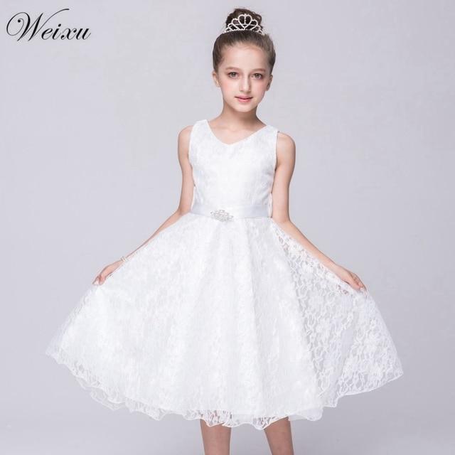 f93634e9e Bebé niña vestido de verano de niño blanco de encaje de tul princesa  Vestidos de Fiesta