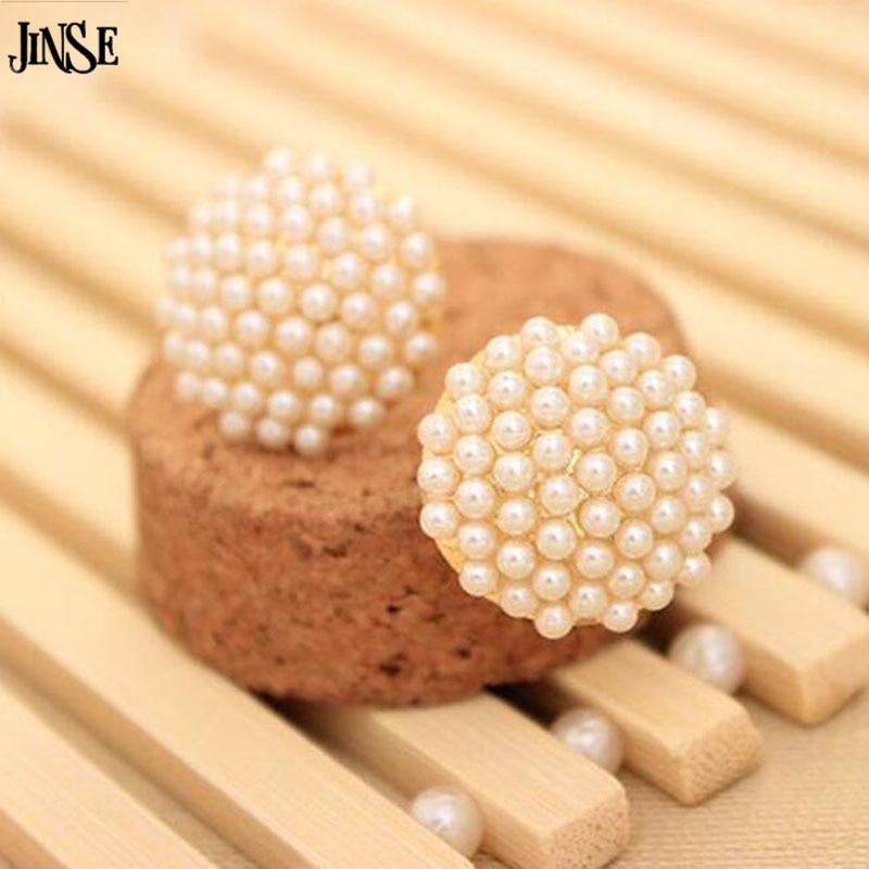 6932ccb6c7c1 ̿̿̿(•̪ )JINSE Élégant et Charmant Blanc Perles Imitation Perle ...