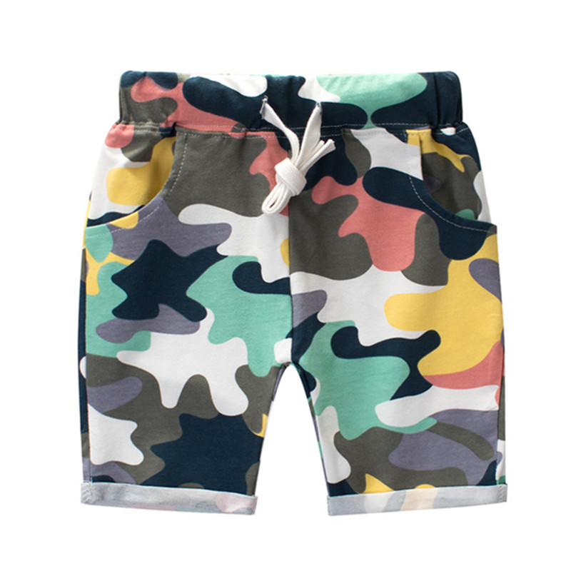 Fashion Boys Camouflage Shorts Summer Cotton Trousers Kids Army Cool Pants Children Loose Sport Camo Shorts Sweatpants 2018 men multi pocket military cargo shorts casual cotton loose knee length army tactical shorts homme summer male sweatpants