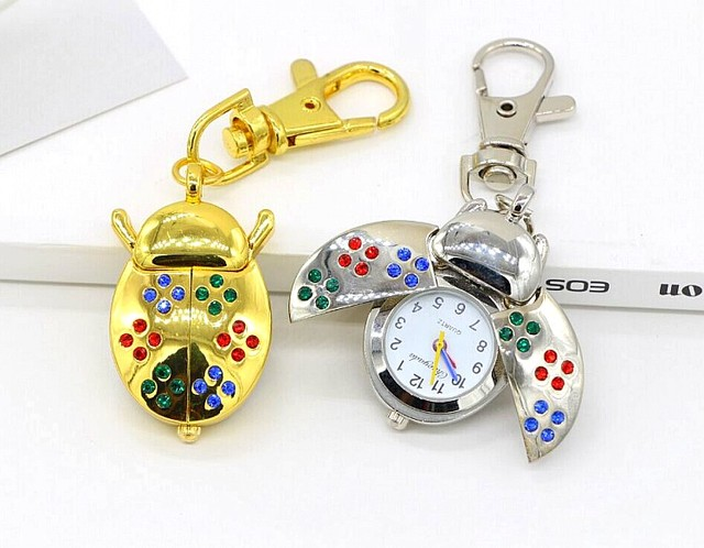 New fashion quartz Hollow out design beetle children lovely Pocket watch necklac