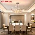 2019 новая стильная хрустальная люстра осветительное приспособление хрустальный свет люстры для гостиной потолочный светильник Бесплатная ...