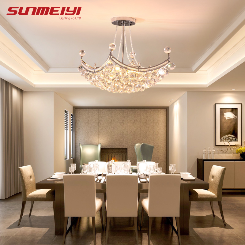 2019 New Style Crystal Lysekrone Lighting Fixture Crystal Light Lustres de cristal til Stue Loftslampe Gratis Levering