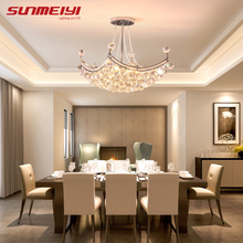 2015 New Style Crystal Chandelier Lighting Fixture Crystal Light Lustres de cristal for Living Room Ceiling Lamp Free Shipping цена 2017