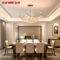 2020 New Style Crystal Chandelier Lighting Fixture Crystal Light Lustres de cristal for Living Room Ceiling Lamp Free Shipping