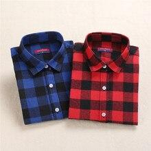 Dioufond Женская клетчатая рубашка красные хлопковые топы с длинным рукавом Blusas красная клетчатая рубашка женская одежда размера плюс 5XL блузка и топ