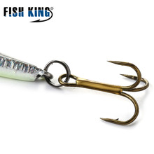 FISH KING ice fishing lure  bait spoon 5g 9g isca artificial metal lures jigging  winter fishing tackles
