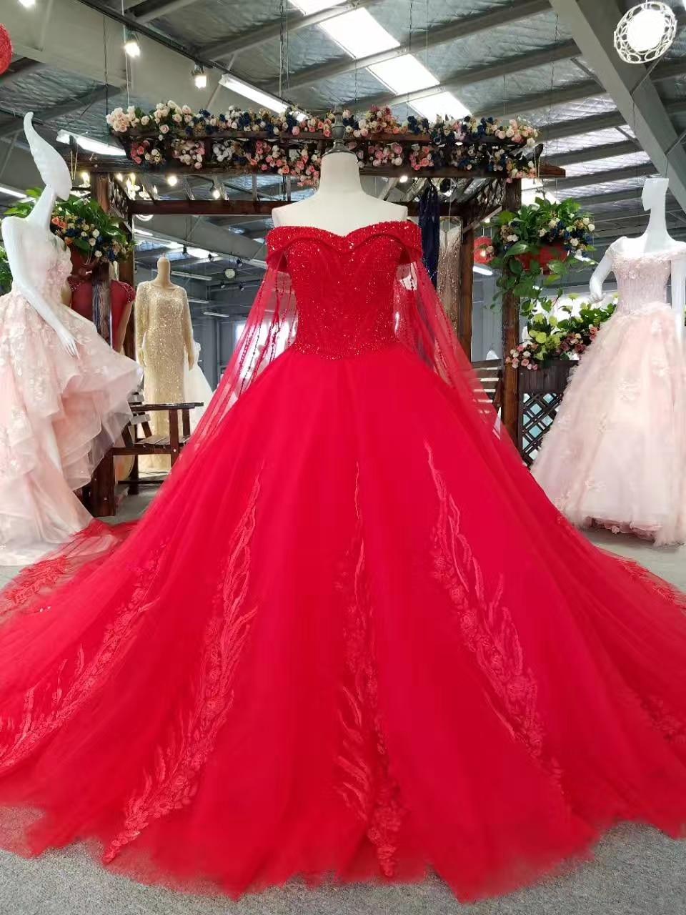 Ny Arrival Elegant A-Line Spets Sequins Bröllopsklänning 2017 - Bröllopsklänningar - Foto 4