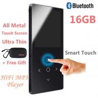2018 Touch Key Bluetooth HIFI Mp4-speler 16 GB multi-language Onbreekbaar Krasbestendig FM Radio, E-Book Metalen Muziekspeler