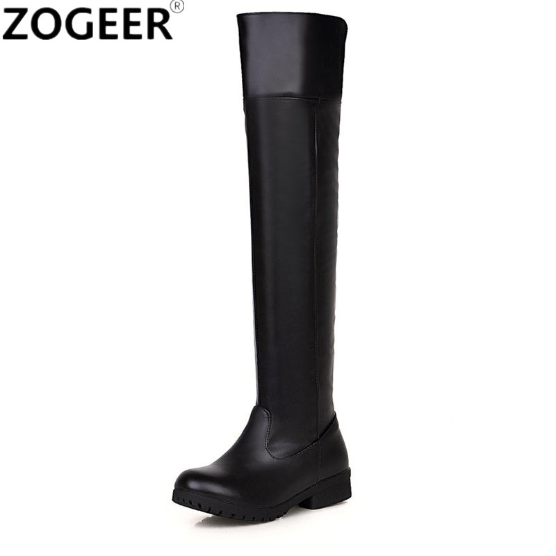 9b6220878f0 Plus Size 45 48 Hot 2019 Spring Autumn Women Boots Fashion Casual Low Heels  Over The