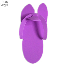 aa1686e8247031 BNG 1pairs lot Disposable Spa Pedicure Slippers Comfortable Convenient Nail  Art Salon EVA Foam Material