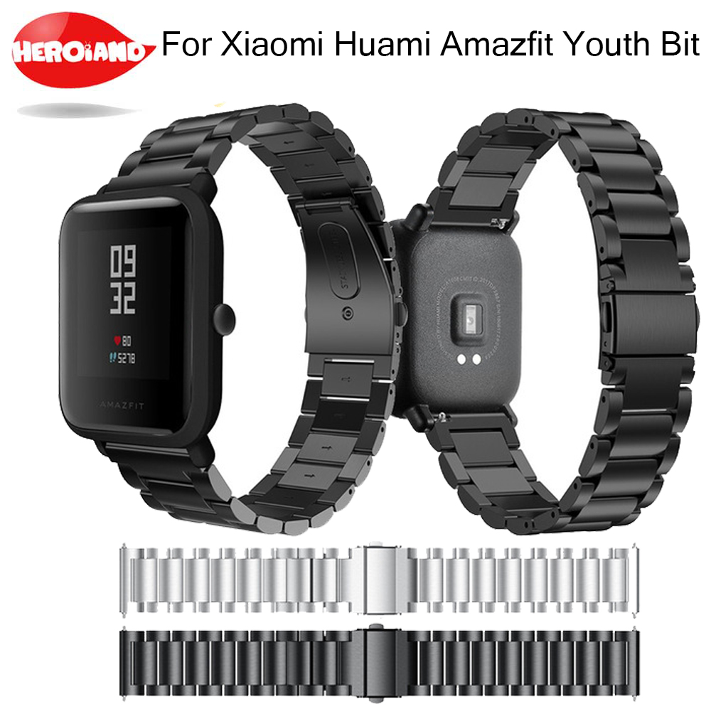 Replacement Metal Strap For Xiaomi Huami Amazfit Bip BIT PACE Lite Youth Band Wearable Wrist Bracelet Watchband For Samsung S2