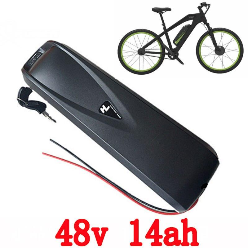 UE US Aucun Impôt 48V14AH hailong Électrique Vélo vers le bas tube utiliser sanyo cellulaire batterie pour 48 v 500 w 750 w au lithium ion batterie