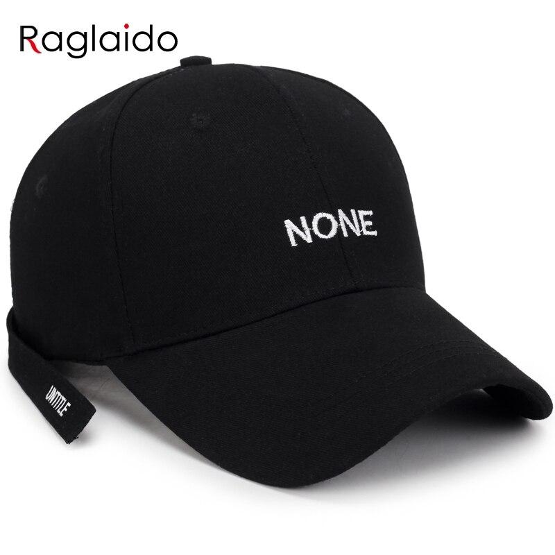 Raglaido women ponytail   baseball     caps   black white letters embroidery cotton   cap   adjustable fashion hats long strap RGSHY032