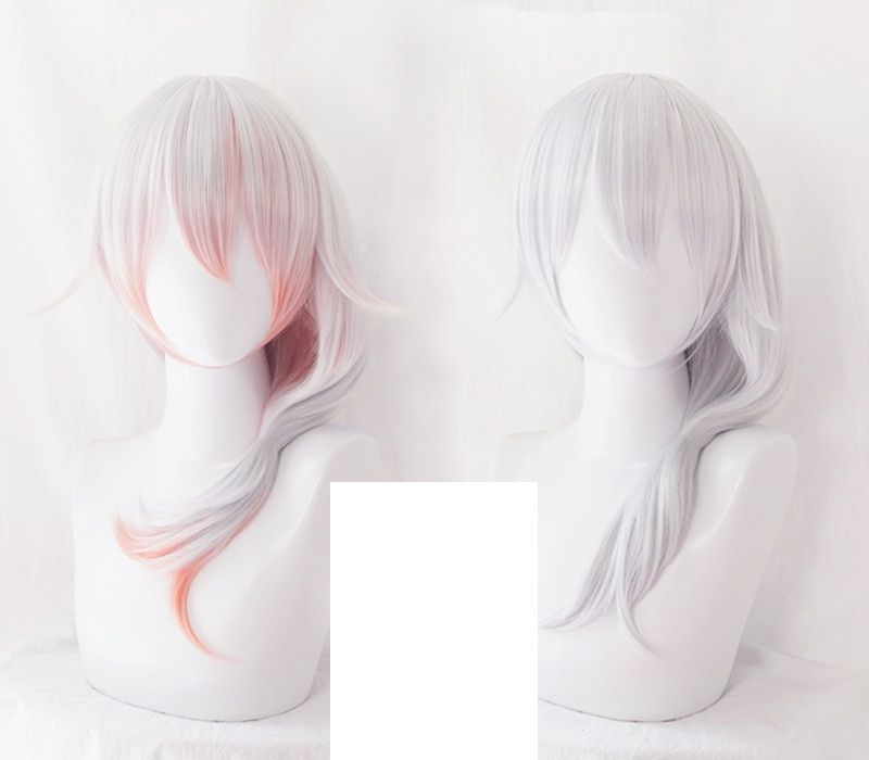 New Game Honkai Impact 3 3rd Cosplay Wig Theresa Apocalypse Long Straight Silver   Gradient Colors Adult Synthetic Hair
