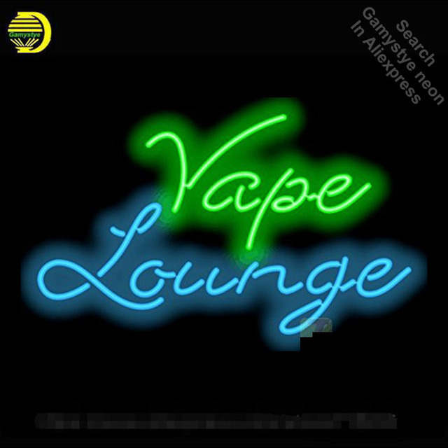 Neon Sign for Vape Lounge Neon Bulbs sign handcraft Glass tubes Decorate Beer Wall Room signs made to order