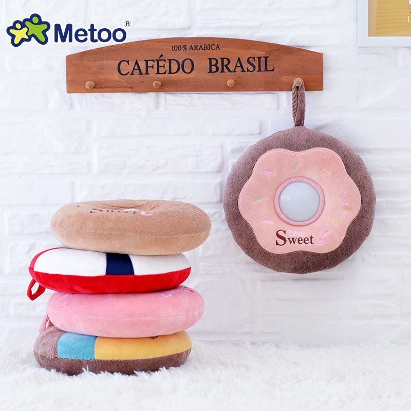 The best gift Metoo donut plush toy Nightlight luminous toy baby toy gift just light sleep comfort children friends (23)