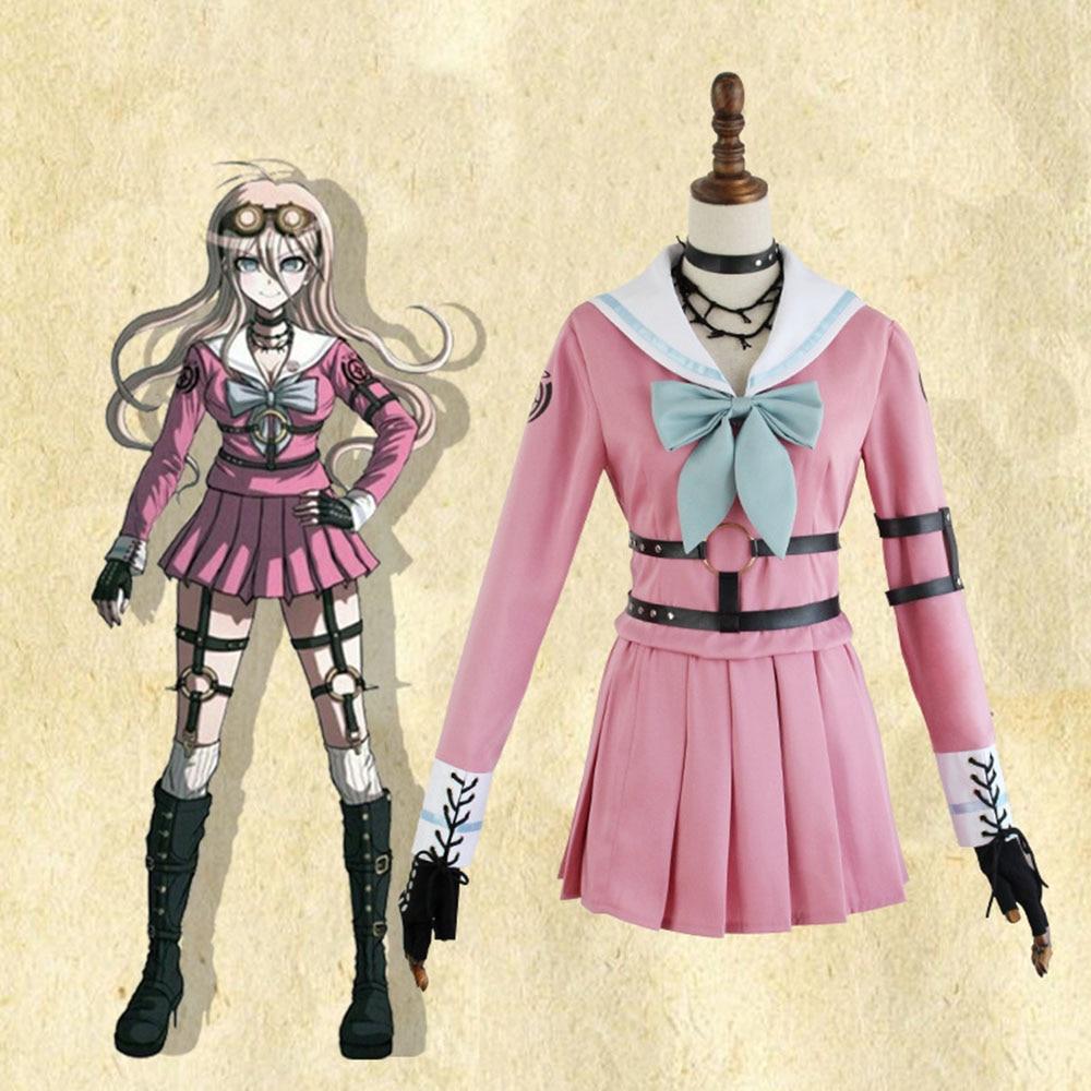 High-quality  Danganronpa V3: Killing Harmony Anime Cosplay Miu Iruma Lolita Costume Combat Suit Performance Costumes